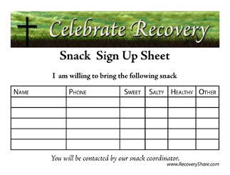 Snack Sign Up Sheet Template Word Images - Frompo